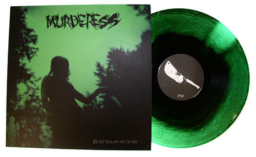 MURDERESS - The Last Thing You Will Ever See... LP Green/Black Vinyl