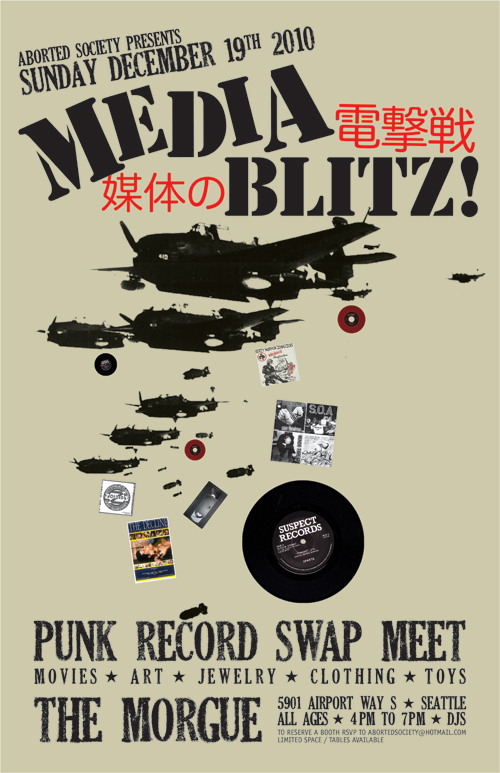 Media Blitz! Punk Record Swap Meet Flyer