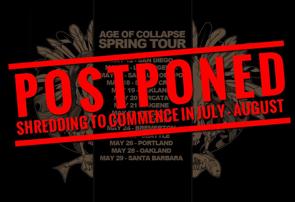 AGE OF COLLAPSE postpones tour due to injury