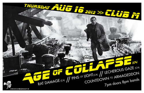 AGE OF COLLAPSE returns to Seattle!