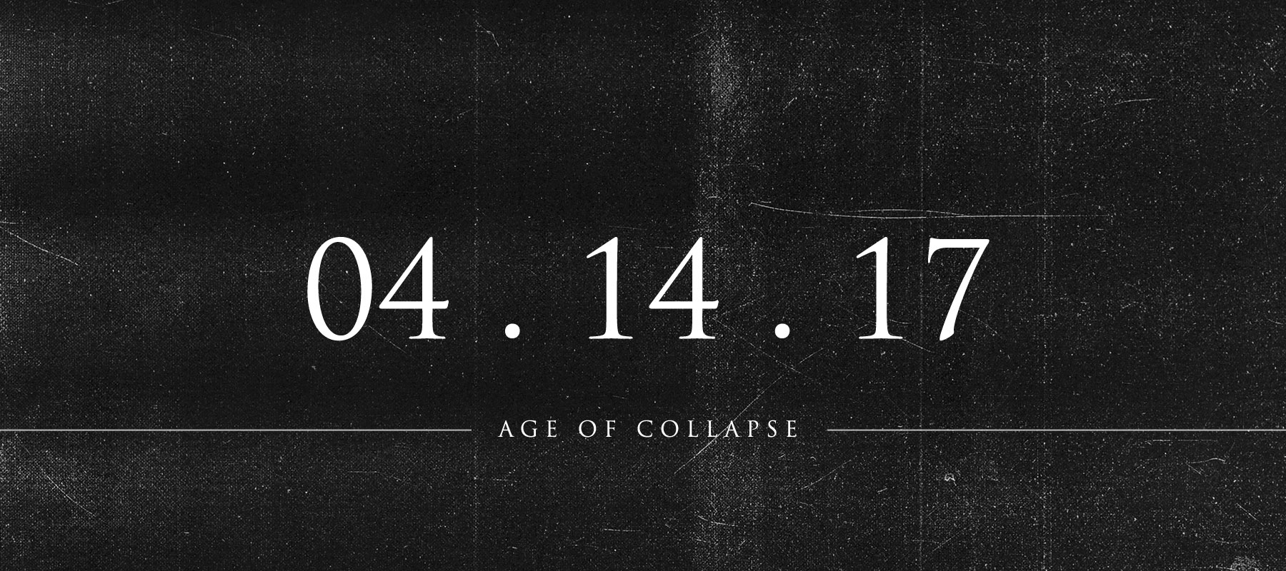 Age of Collapse – New LP Announcement and Sale